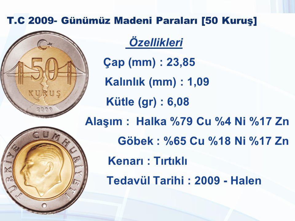 T.C 2009- Günümüz Madeni Paraları [50 Kuruş]